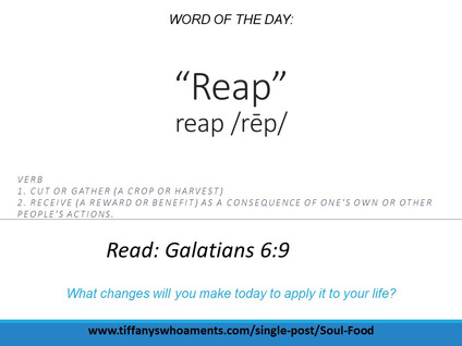 Word of the Day: Reap