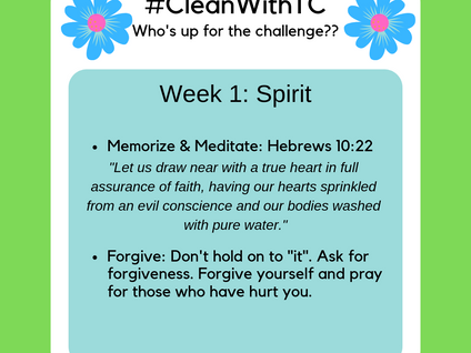 #CleanwithTC: Week 1