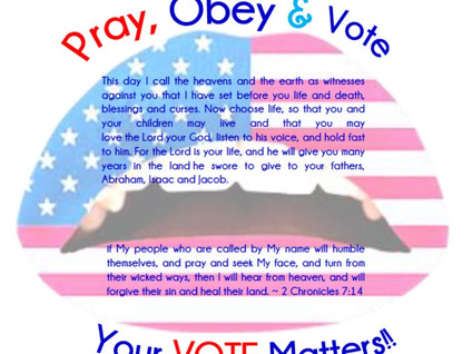Pray, Obey and Vote