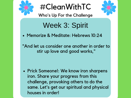 #CleanwithTC: Week 3