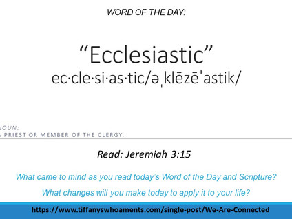 Word of the Day: Ecclesiastic