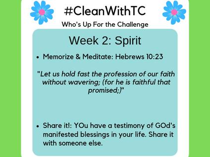 #CleanwithTC: Week 2