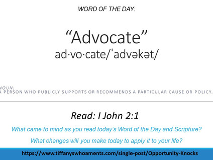 Word of the Day: Advocate