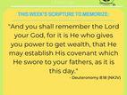 IG Faith and Water Challenge Week 1 - Deuteronomy 8:18