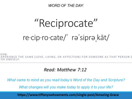 Word of the Day: Reciprocate