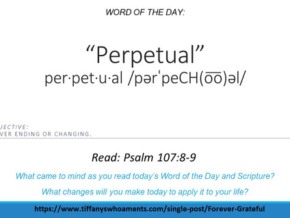 Word of the Day: Perpetual