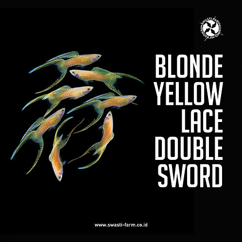BLONDE YELLOW LACE DOUBLE SWORD