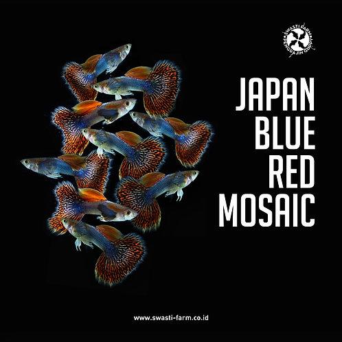 JAPAN BLUE RED MOSAIC