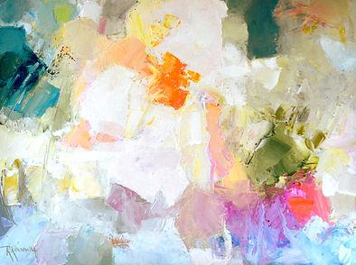 Feelin' It by Rose-Marie Kossowan, oil on deep canvas.