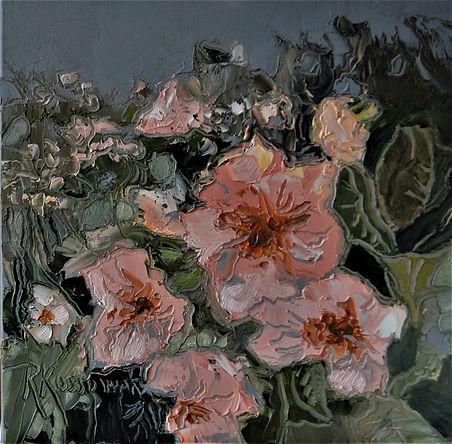Kossowan, R. Thimble berry blooms, 10x10