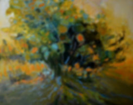 Kossowan R. Burning Bush. oil on cavas,