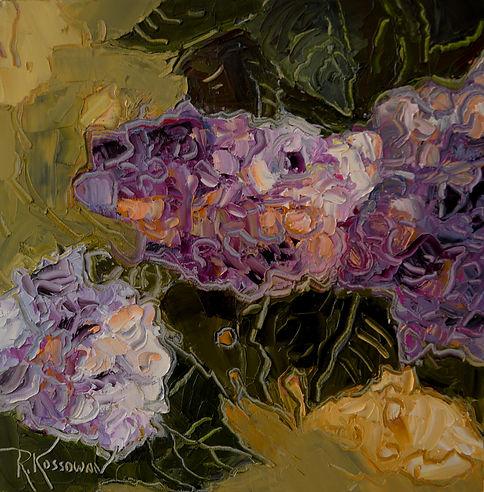Kossowan, R. Bloomin' Hydrangias, oil on
