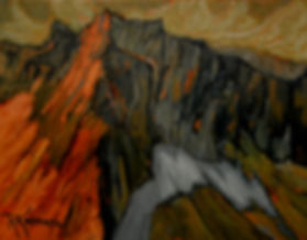 Manning Park, oil on canvas, by Rose Marie Kossowan