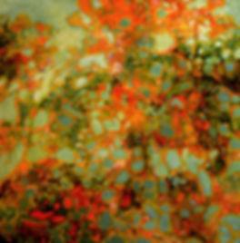 """Joyful, by Rose-Marie Kossowan, oil on canvas, 36x36""""."""