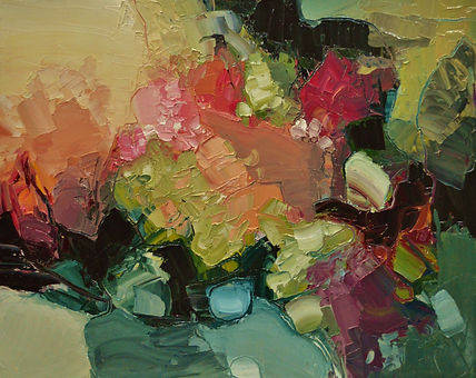 Abstract oil painting by Canadian Artist Rose-Marie Kosswan