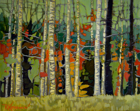 Kossowan, R. Beautiful Birches, 16x20, o