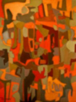 Metropolis by Rose-Marie Kossowan, oil on canvas