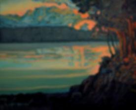 Kossowan, R. Last Light On The Lake, oil