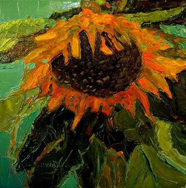Kossowan, R. Last Sunflower, oil on deep