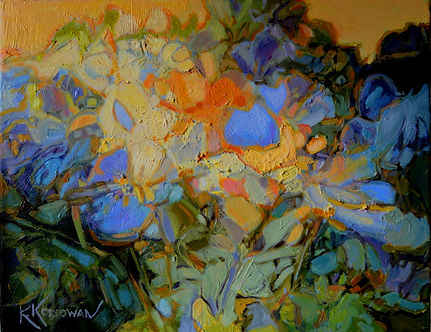 Kossowan, R. Forget-Me-Knots, oil on can