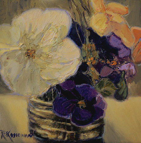 Kossowan, R. Captured Blooms, oil on dee