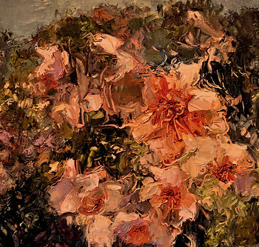 Kossowan, R. Flowering Bush, oil on deep
