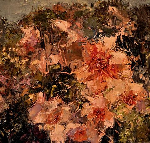 Kossowan, R. Flowering Bush, oil on deep