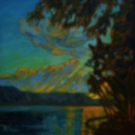 November Sunset On Cultus Lake by Rose-Marie Kossowan