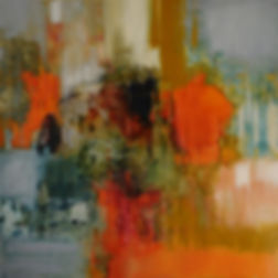 Abstract oil painting by Canadian Artist Rose-Marie Kossowan