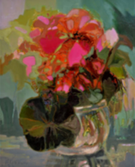 Kossowan, R. Bowl Of Scarlet Flowers, oi