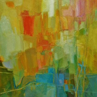 Orange Popsicle, oil on canvas, by Rose-Marie Kossowan