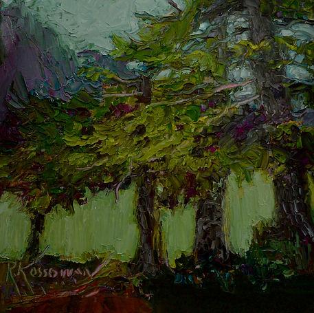 Kossowan, R. West Coast Cedars, oil on d