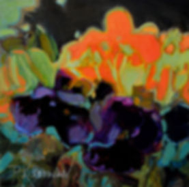 Kossowan, R. Pansies no.3, 10x10in, oil