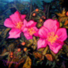 Kossowan, R. Rose Bush, oil on deep canv