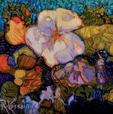 Kossowan, R. Violets And Things, oil on