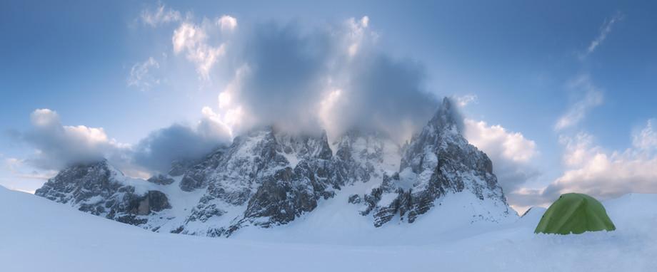 A frozen sunrise