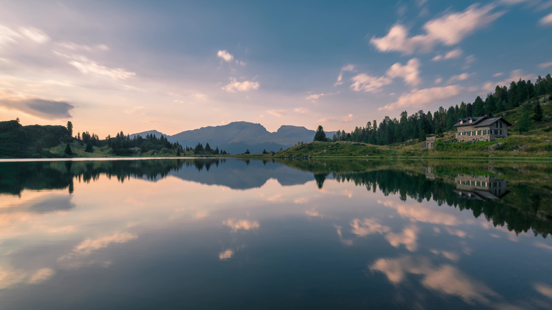 Time lapse tramonto lago colbricon.mp4
