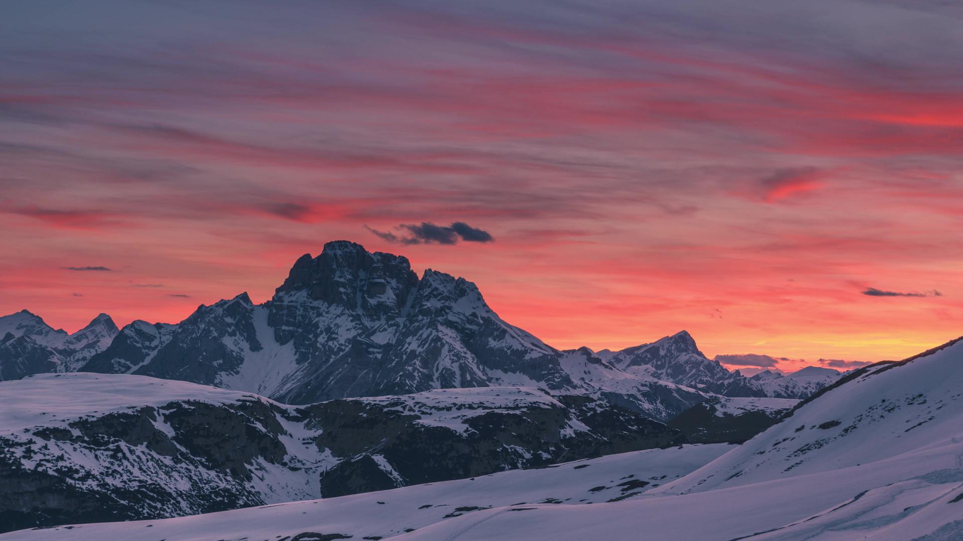 Time lapse tramonto rif. auronzo.mp4