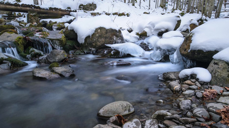 Time lapse Dardagna ruscello inverno.mp4