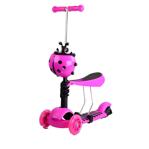 KS-007SHY, 3-in-1 Kick scooter with beatle basket and music