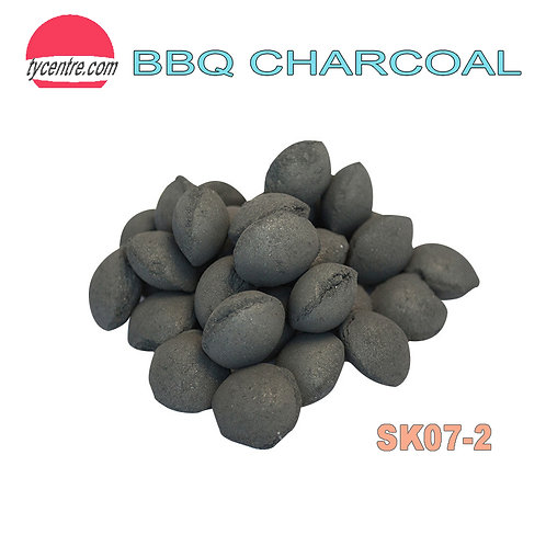 SK07-2, Round Bamboo / Wood Powder Charcoal for BBQ