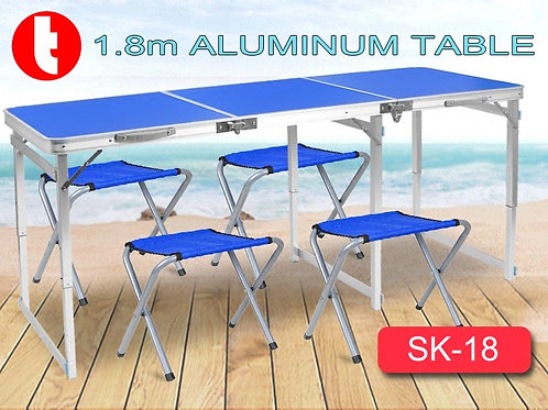 SK-18, Large Aluminum Fordable Table for BBQ Party Outdoor.