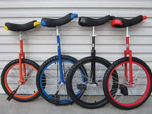 UB-16CSB, shoulder B unicycle with  color steel rims and different tires