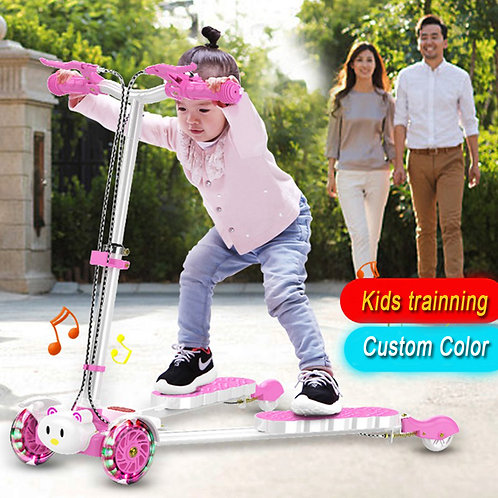 SS4150MMC-PVC-F ,Frog scooters / swing scooters for kids