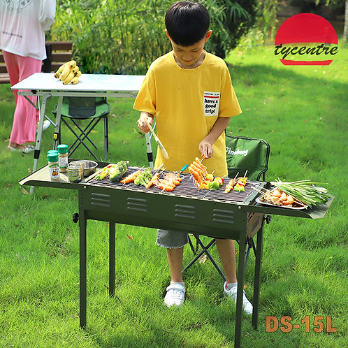 DS-15L, Large Portable Charcoal BBQ in Case Design.