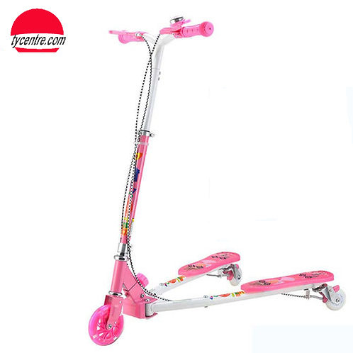 SS8175R-GD-W2-F, Steel 3 wheeled Kids Scooter 3-in-1 use.