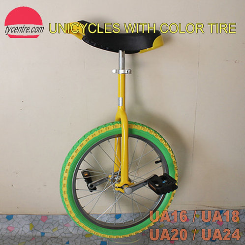"UA-20SC, 20"" Unicycle with Color Tire and Different Rims"