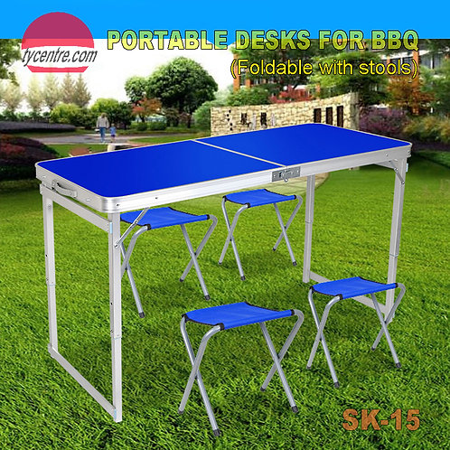 SK-15, Medium Aluminum Fordable Table for BBQ Party Outdoor.
