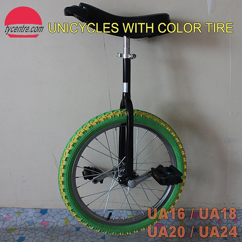 UA-24SC, 24 inches Unicycle with Color Tire and Different Rims