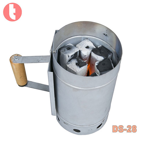 DS-28,Fire Starting Barrel for Charcoal BBQ Grill